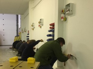 Electrician trainees